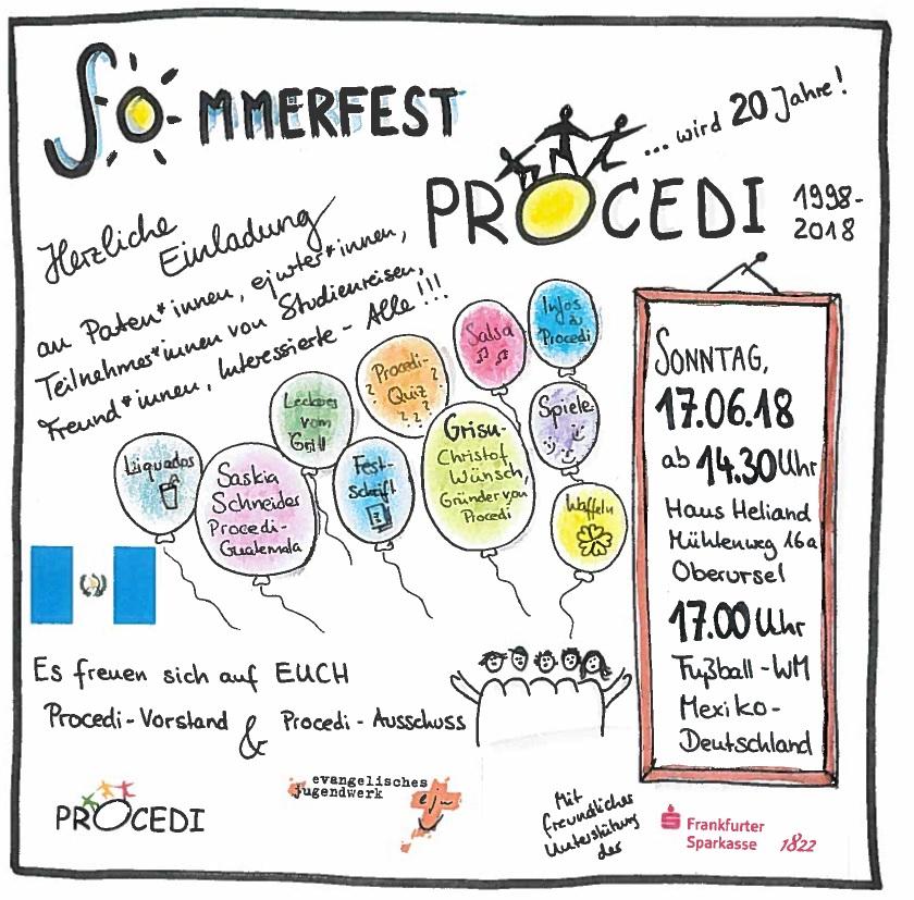 Einladung Procedi Sommerfest 2018